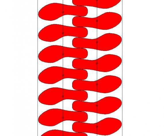 Automatyczne układanie spody na pasach