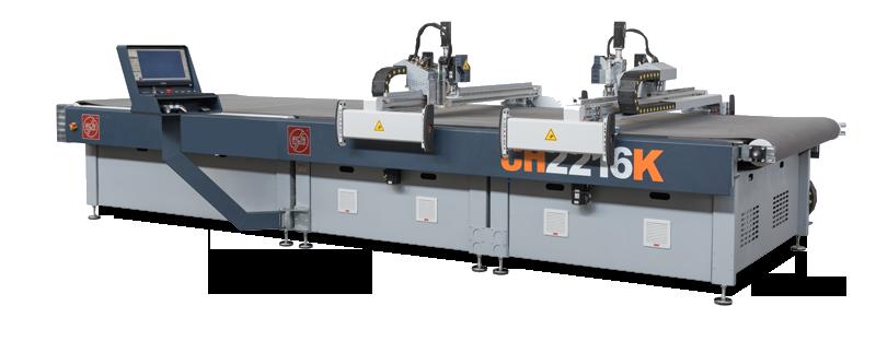 Ultraszybki dwugłowicowy cutter do rozkroju tkanin jedno i wielowarstwowy MiriSys Filiz Seria H